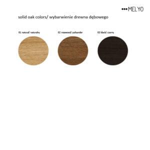 solid oak colors