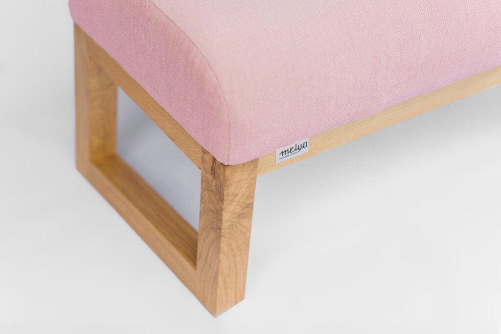podnózek do fotela Lord, różowy fotel do salonu, polski design