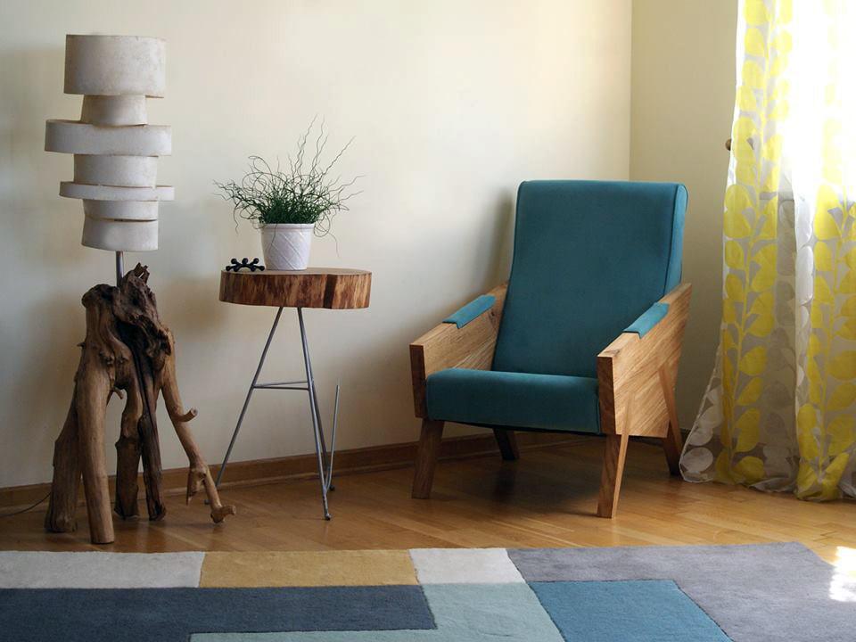 wypoczynkowy fotel do salonu , polski design, ergonomiczny fotel